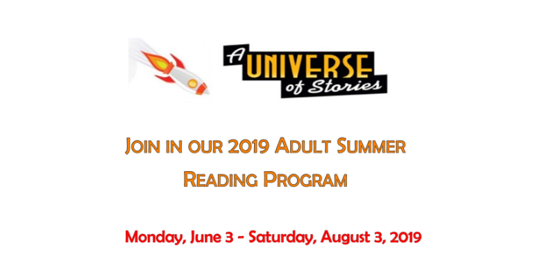 2019 Adult Summer Reading Program: A Universe of Stories visual