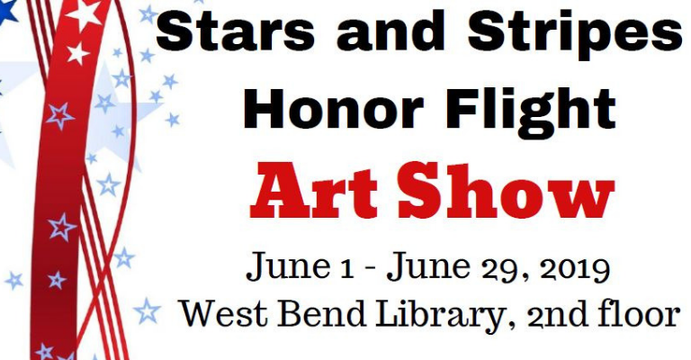 Stars and Stripes Honor Flight Art Show visual