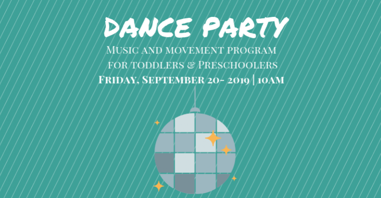 Preschool/Toddler Dance Party visual