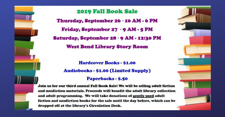 2019 Fall Book Sale visual