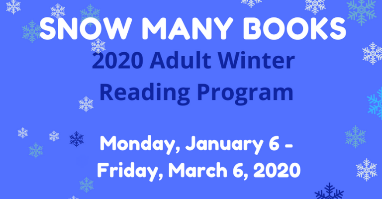 Snow Many Books: 2020 Adult Winter Reading Program visual