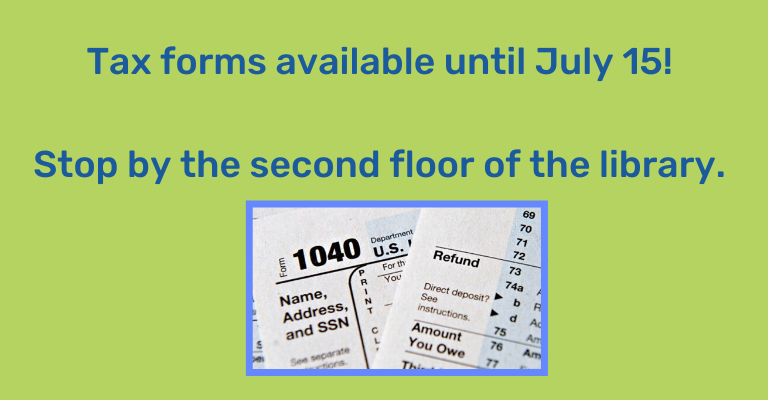 Tax Forms Still Available at the Library! visual