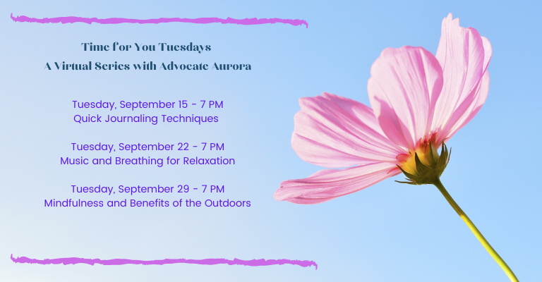 Time for You Tuesdays: A Virtual Series visual
