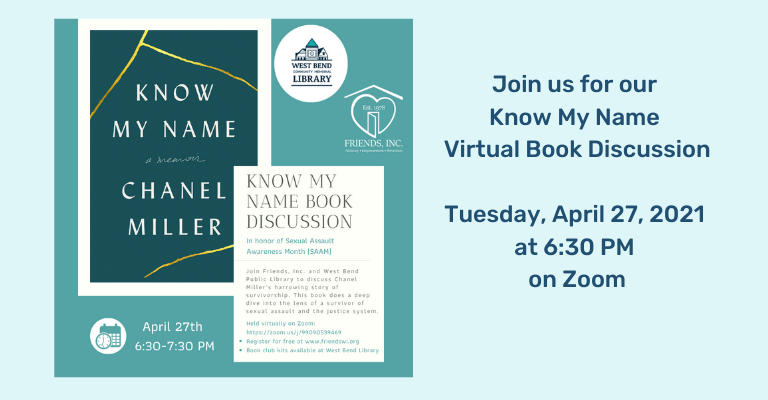 Know My Name: A Virtual Book Discussion visual