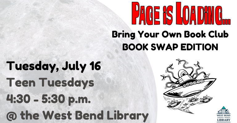 Teen Tuesday: The Page is Loading... Book Swap visual